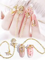 Недорогие -1 шт. Высокое качество роскошные циркон хрустальные стразы для ногтей сплава золота украшения искусства ногтя модные цепочки кисточкой ювелирные украшения