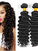 Недорогие -6 Связок Бразильские волосы Крупные кудри Не подвергавшиеся окрашиванию Человека ткет Волосы Удлинитель Пучок волос 8-28 дюймовый Естественный цвет Ткет человеческих волос / Без запаха