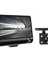 Недорогие -4 1080p HD 170 3 объектива Автомобильный видеорегистратор видеорегистратор G-Sensor Recorder камера заднего вида