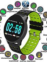 Недорогие -W1 умные часы мужчины сердечного ритма ip67 водонепроницаемый фитнес-трекер кровяное давление smartwatch спорт шагомер для android ios