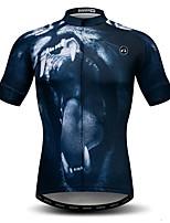 Недорогие -WEIMOSTAR Муж. С короткими рукавами Велокофты Темно-синий Велоспорт Спортивный костюм Джерси Верхняя часть Дышащий Виды спорта Полиэстер Эластан Терилен Горные велосипеды Шоссейные велосипеды Одежда