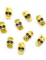 Недорогие -10 шт. / Упак. 3d металлический сплав дизайн украшения для ногтей блестящие украшения 26 стилей маникюр дизайн аксессуар для ногтей