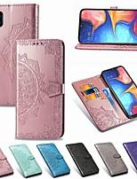 Недорогие -Кейс для Назначение SSamsung Galaxy A5(2018) / A6 (2018) / A6+ (2018) Кошелек / Бумажник для карт / Защита от удара Чехол Однотонный Твердый Кожа PU