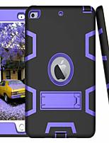 Недорогие -Кейс для Назначение Apple iPad Mini 3/2/1 / iPad Mini 4 со стендом Кейс на заднюю панель Однотонный Твердый силикагель