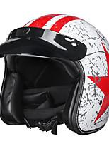 Недорогие -винтаж мотоциклетный шлем с открытым лицом 3/4 защитник головы ретро гонщик