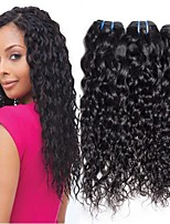 Недорогие -4 Связки Бразильские волосы Волнистые Не подвергавшиеся окрашиванию 100% Remy Hair Weave Bundles Головные уборы Человека ткет Волосы Удлинитель 8-28 дюймовый Естественный цвет Ткет человеческих волос
