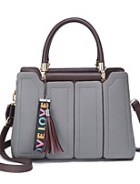 cheap -Women's Tassel Faux Leather / PU Top Handle Bag Solid Color Black / Brown / Blushing Pink