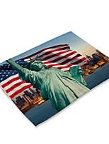Недорогие -Современный Нетканые Квадратный Салфетки-подстилки С узором Защита от влаги Настольные украшения 2 pcs