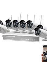 Недорогие -8-канальный 960p HD видеонаблюдения беспроводной видеонаблюдения комплект видеонаблюдения DIY домашнего использования