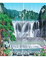 Недорогие -расширенные индивидуальные 3d печать высокой четкости китайский фэншань водопад карта утолщение чистого полиэстера занавес многофункциональный занавеска для ванной / занавес
