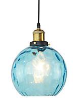Недорогие -современный ресторан синего стекла подвесной светильник бар спальня стеклянная лампа диаметр 20 см