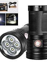 Недорогие -XM4 Светодиодные фонари 3200 lm Светодиодная лампа LED 4 излучатели Руководство 3 Режим освещения с USB кабелем Водонепроницаемый Для профессионалов Анти-шоковая защита