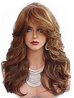 Недорогие -Парики из искусственных волос Естественные кудри Стиль Стрижка каскад Без шапочки-основы Парик Светло-коричневый Темно-русый Искусственные волосы 66~70 дюймовый Жен. Новое поступление