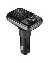 Недорогие -Автомобильная беспроводная Bluetooth-гарнитура Bt72 Dual USB зарядки Smart Bluetooth FM-передатчик mp3 музыкальный плеер автомобильный комплект с 1,5-дюймовым белым дисплеем с поддержкой Bluetooth