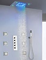 Недорогие -Смеситель для душа - Современный Хром / Окрашенные отделки На стену Керамический клапан Bath Shower Mixer Taps