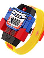 Недорогие -skmei led цифровые детские часы мультфильм спортивные часы relogio робот трансформация игрушки мальчики наручные часы