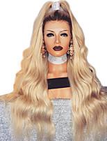 Недорогие -Парики из искусственных волос Естественные кудри Стиль Стрижка каскад Без шапочки-основы Парик Золотистый Светло-золотой Искусственные волосы 68~72 дюймовый Жен. Новое поступление Золотистый Парик