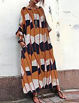 Недорогие -Жен. Классический Оболочка Платье - Радужный Средней длины