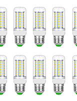 Недорогие -10 шт. 8 W LED лампы типа Корн 3000 lm G9 B22 E12 / E14 T 56 Светодиодные бусины SMD 5730 Тёплый белый Белый 220 V 110 V