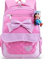 Недорогие -Большая вместимость Нейлон Молнии рюкзак Повседневные Розовый / Лиловый / Пурпурный / Девочки