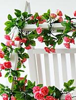 Недорогие -Искусственные Цветы 1 Филиал подвешенный Современный современный Розы Цветы на стену