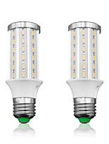 Недорогие -LOENDE 2pcs 15 W LED лампы типа Корн 1500 lm E26 / E27 T 60 Светодиодные бусины SMD 5730 Тёплый белый Белый 85-265 V