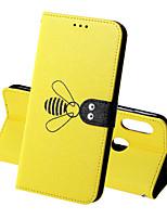 Недорогие -Кейс для Назначение Xiaomi Xiaomi Redmi 6 Pro / Xiaomi Redmi Note 7 Pro / Redmi 6A Кошелек / Бумажник для карт / Защита от удара Чехол Однотонный / Животное Твердый Кожа PU