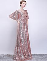 Недорогие -Футляр V-образный вырез В пол Пайетки Торжественное мероприятие Платье с от LAN TING Express