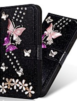 cheap -Case For Samsung Galaxy S20 Ultra /S20 Plus/S10 Plus Wallet / Card Holder / with Stand Glitter Shine Butterflies PU Leather Case For Samsung S9 Plus /S8 Plus /S7 Edge/Note 10 Pro /A51/A71