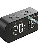 Недорогие -Bt501 портативный беспроводной динамик Bluetooth колонка сабвуфера музыкальный звуковой ящик светодиодные будильник повтора для ПК ноутбук телефон