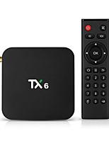 Недорогие -TX6 Smart TV Box Android 9,0 4K IPTV 4 ГБ DDR3 32 ГБ Emmc BT 4.1 Поддержка двойной Wi-Fi 2,4 Г / 5 ГГц YouTube H.265 Set Top Box