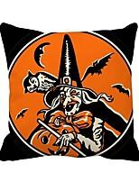 Недорогие -1 штук Полиэстер Наволочка, Праздник Мультипликация Хэллоуин Бросить подушку