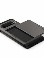 Недорогие -Кейс для Назначение SSamsung Galaxy Galaxy S10 Защита от удара Кейс на заднюю панель Однотонный Твердый ТПУ / ПК