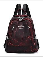 Недорогие -Большая вместимость Полиэстер Узоры / принт / Молнии рюкзак Геометрический принт Повседневные Красный / Лиловый / Темно-серый