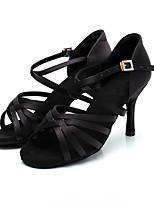 cheap -Women's Dance Shoes Latin Shoes Heel Slim High Heel Customizable Black / Brown / Performance / Silk / Leather