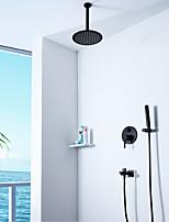 Недорогие -Смеситель для душа - Современный Неприменимо Монтаж на стену Керамический клапан Bath Shower Mixer Taps