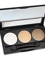 Недорогие -3 цвета Тени Тени для век Pro / Прост в применении Офис Повседневный макияж косметический