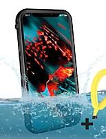 Недорогие -Кейс для Назначение Apple iPhone XR / iPhone XS Max / iPhone 8 Pluss Водонепроницаемый Водонепроницаемый мешочек Прозрачный Мягкий ТПУ