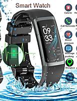Недорогие -KF01 спорт умный браслет фитнес-диапазон сердечного ритма монитор артериального давления вызов смс напоминание Bluetooth часы для IOS Android
