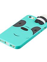 Недорогие -чехол для iphone 5/5 с / с 3d симпатичные цветные окрашенные животные тпу против царапин нескользящая защитная крышка назад