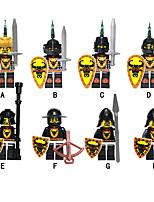 Недорогие -Конструкторы 8 pcs Воин Замок совместимый Legoing Простой Декомпрессионные игрушки Взаимодействие родителей и детей Все Игрушки Подарок