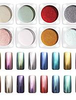 Недорогие -пинпай голографический лазерный порошок радуга ногтей хамелеон блеск хром порошок пигмент маникюр гель для ногтей лак блеск пыль
