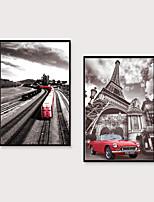 Недорогие -Отпечаток в раме Набор в раме - Пейзаж Полистирен Иллюстрации Предметы искусства