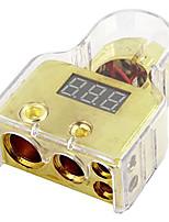Недорогие -цифровая положительная клемма аккумулятора 8/1/0/4 манометр с вольтметром