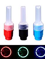 Недорогие -Светодиодная лампа Велосипедные фары LED подсветка велосипед свечения лампы колесные огни Велоспорт Водонепроницаемый Быстросъемный Прочный AG10 30 lm Аккумулятор AG10 Красный Синий Зеленый
