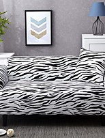 cheap -Black and White Zebra-stripe Print Dustproof All-powerful Slipcovers Stretch Sofa Cover Super Soft Fabric Couch Cover with One Free Pillow Case