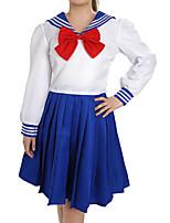 Недорогие -Вдохновлен Sailor Moon Куки-аниме Аниме Косплэй костюмы Японский Косплей Костюмы Сплошной цвет Длинный рукав Рубашка / Кофты / лук Назначение Жен.