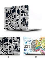 Недорогие -ПВХ жесткий чехол для MacBook Pro 13 сетчатки A1502 A1425 механический мозг прозрачный дно чехол