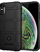 Недорогие -Кейс для Назначение Apple iPhone XS Max Защита от удара Кейс на заднюю панель Однотонный Мягкий ТПУ