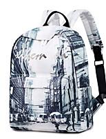 Недорогие -Большая вместимость Кожа ПВХ Молнии рюкзак Повседневные Белый